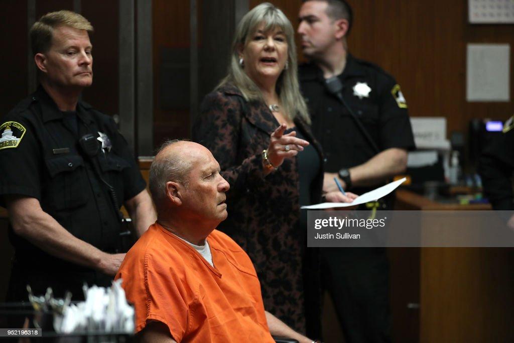 """Arraignment Held For Alleged """"Golden State Killer"""" Joseph DeAngelo Jr : News Photo"""
