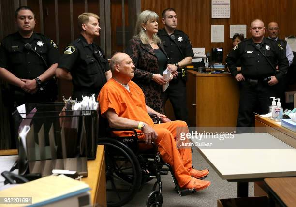 Joseph James DeAngelo the suspected Golden State Killer appears in court for his arraignment on April 27 2018 in Sacramento California DeAngelo a...