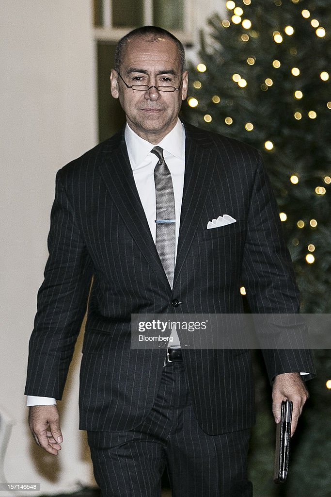 Joseph 'Joe' Echevarria, chief executive officer of Deloitte LLP, leaves the White House following a meeting with U.S. President Barack Obama in Washington, D.C., U.S., on Wednesday, Nov. 28, 2012. Obama reached out to chief executives and middle-income taxpayers, imploring them to press Congress to avoid the fiscal cliff as he said he wants to get a deal 'done before Christmas.' Photographer: T.J. Kirkpatrick/Bloomberg via Getty Images