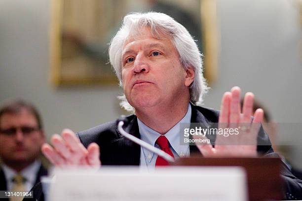 """Joseph """"Joe"""" Pizarchik director of the Office of Surface Mining Reclamation and Enforcement speaks during a Natural Resources Committee hearing in..."""