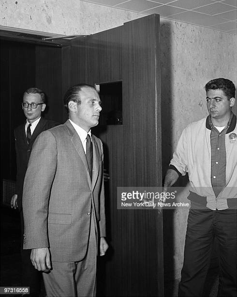 Joseph Joey Gallo also known as Crazy Joe and Joe The Blond leaves Supreme Court Grand Jury room in Brooklyn
