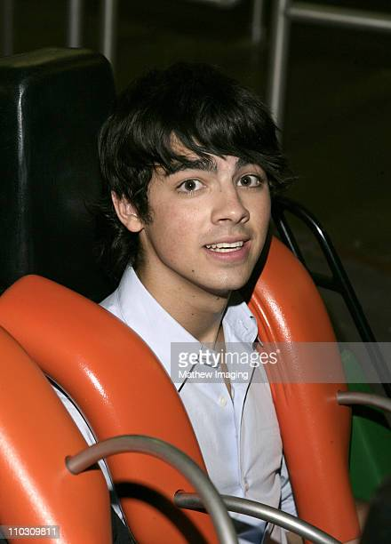 Joseph Jonas on X during Miley Cyrus and The Jonas Brothers Visit Six Flags Magic Mountain at Six Flags Magic Mountain in Valencia California United...
