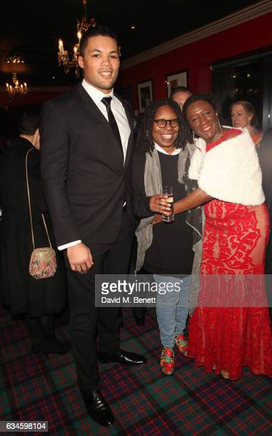 Joseph Joyce Whoopi Goldberg and Marvel Opara attend as Boisdale's Woman of the Year honours Whoopi Goldberg at Boisdale of Canary Wharf on February...