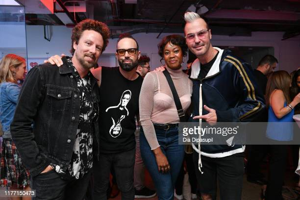 Joseph Karnes Jeremy Ruzumna Noelle Scaggs and Michael Fitzpatrick of Fitz and The Tantrums attend iHeartMedia presents Fitz and The Tantrums An...