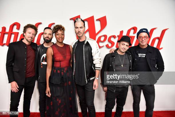 Joseph Karnes Michael Fitzpatrick Noelle Scaggs Jeremy Ruzumna James King and John Wicks of music group Fitz and the Tantrums attend the grand...