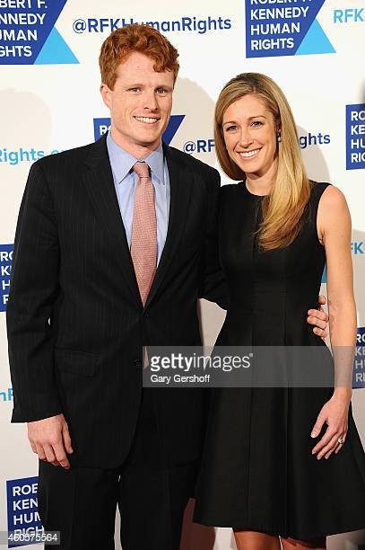 Joseph Kennedy III and Lauren Anne Birchfield attend the 2014 RFK Ripple Of Hope Gala at New York Hilton on December 16 2014 in New York City