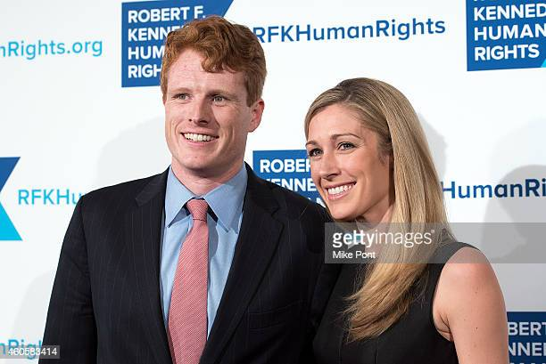 Joseph Kennedy III and Lauren Anne Birchfield attend the 2014 Robert F Kennedy Ripple Of Hope Awards at the New York Hilton on December 16 2014 in...