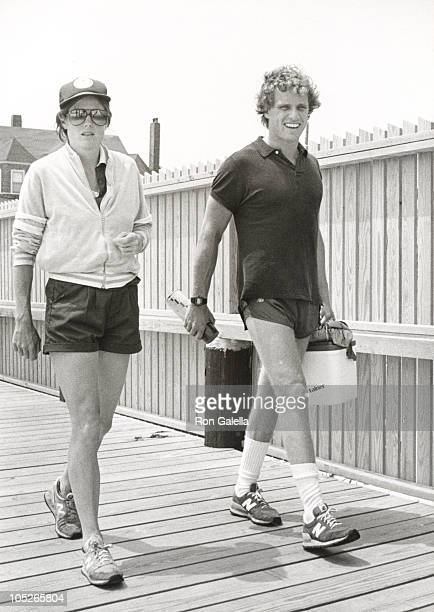 Joseph Kennedy Sheila Brewster Rauch during The Kennedy Family During 4th of July Weekend in Hyannis Port July 2 1983 at Hyannis Port Massachusetts...