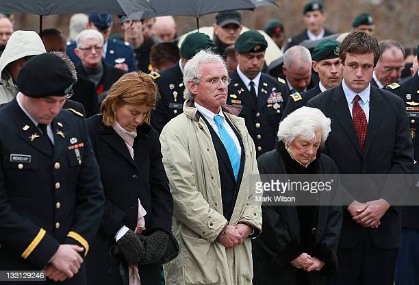 Joseph Kennedy son of the late Robert Kennedy attends a wreathlaying ceremony at President John F Kennedy's gravesite at Arlington Cemetery on...