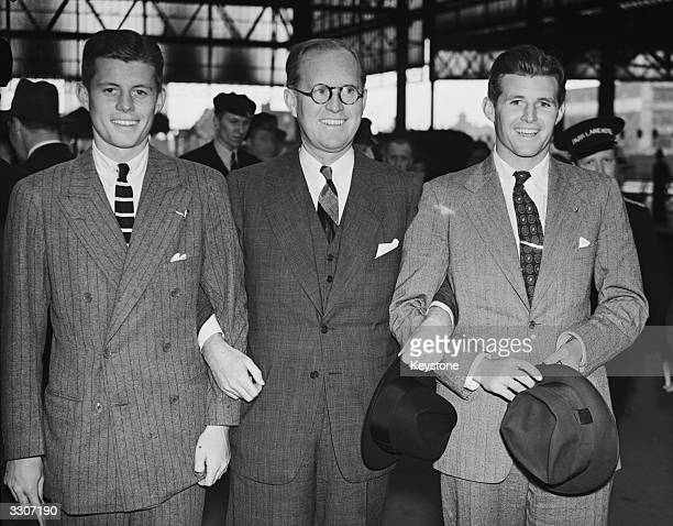 Joseph Kennedy the American Ambassador to Britain with two of his sons John F Kennedy later the 35th President of the United States of America and...