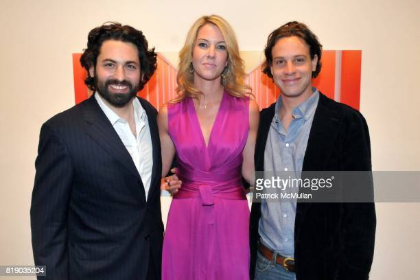 Joseph Kraeutler Sarah Hasted and Julian Faulhaber attend JULIAN FAULHABER's Artist Reception at Hasted Hunt Kraeutler Gallery on May 6th 2010 in New...