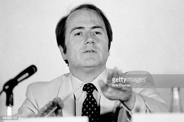 Joseph L. Blatter, General Secretary of FIFA, at a press conference in Mexico City in June 1983. .