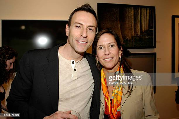 Joseph LaPiana and Terry Hoppersmith attend Photography Poetic Vision Exhibition Opening at Heller Gallery on March 14 2007 in New York City