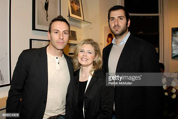 Joseph LaPiana Theresa Powers and Joseph Sheftel attend Photography Poetic Vision Exhibition Opening at Heller Gallery on March 14 2007 in New York...