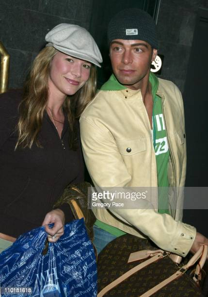 Joseph Lawrence and his wife Michelle during WB Network Stars Arrive for Upfronts at Midtown New York City Hotel in New York City New York United...