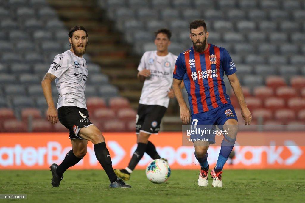 A-League Rd 26 - Newcastle v Melbourne City : News Photo