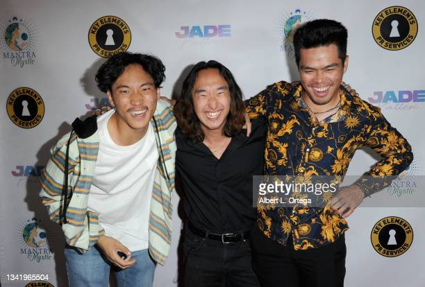 Joseph Lee, Joshua Kim and Tri Ha attend the EP Release Party for Jade Patteri held at The Federal NoHo on September 21, 2021 in North Hollywood,...
