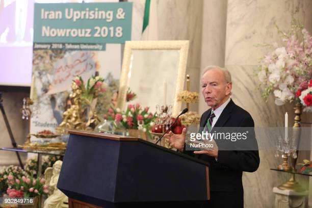 Joseph Lieberman former Senator from Connecticut speaking at a briefing in Washington DC at the Kennedy Caucus Room in the US Senate entitled Iran...