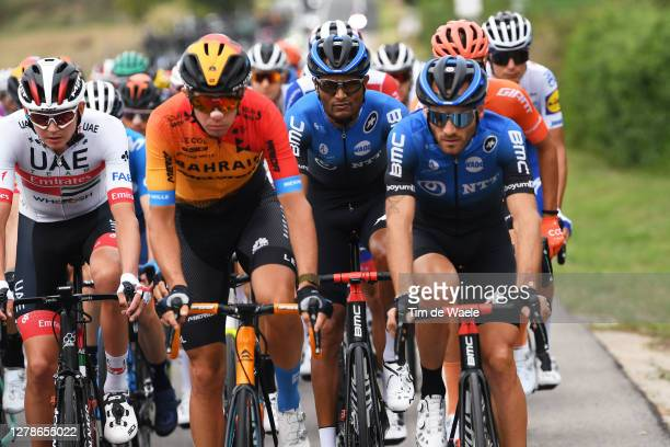 Joseph Lloyd Dombrowski of The United States and UAE Team Emirates / Amanuel Ghebreigzabhier Werkilul of Eritrea and NTT Pro Cycling Team / Danilo...