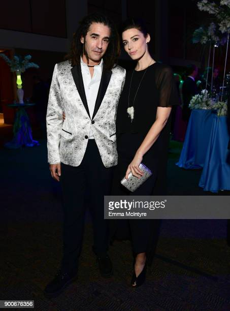 Joseph M Smith and Jessica Pare attend the 29th Annual Palm Springs International Film Festival Awards Gala at Palm Springs Convention Center on...