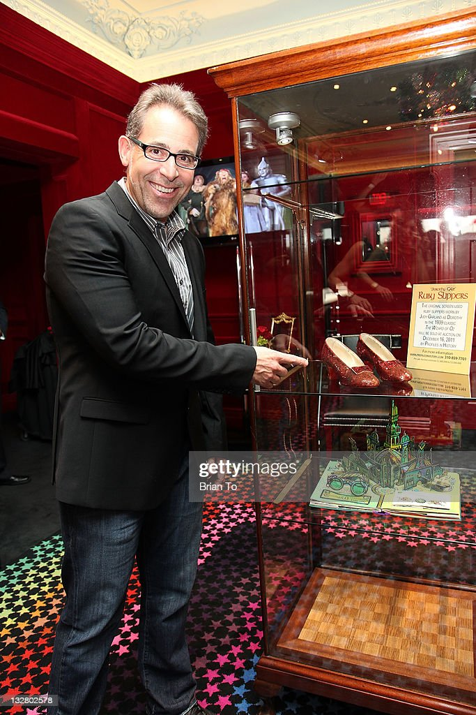 Joseph Maddalena, founder of Profiles in History, attends unveiling of iconic ruby slippers from 'The Wizard Oz' at Solange Azagury-Partridge on November 14, 2011 in Beverly Hills, California.
