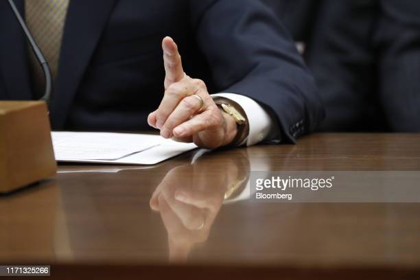 Joseph Maguire acting director of national intelligence speaks during a House Intelligence Committee hearing in Washington DC US on Thursday Sept 26...