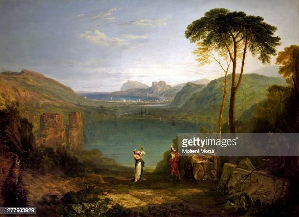 Joseph Mallord William Turner. 1775-1851. Averno lake. Aeneas and the Sibilla Cumana. About 1814-1815 oil painting on canvas. Cm 71.8 x 97.2.