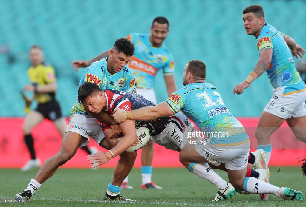 NRL Rd 12 - Roosters v Titans : News Photo
