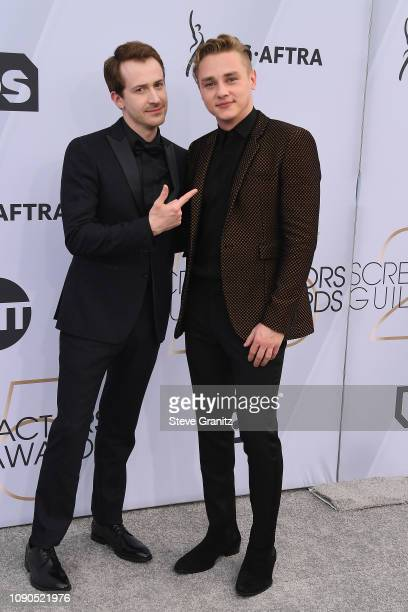 Joseph Mazzello and Ben Hardy attend the 25th Annual Screen ActorsGuild Awards at The Shrine Auditorium on January 27 2019 in Los Angeles California