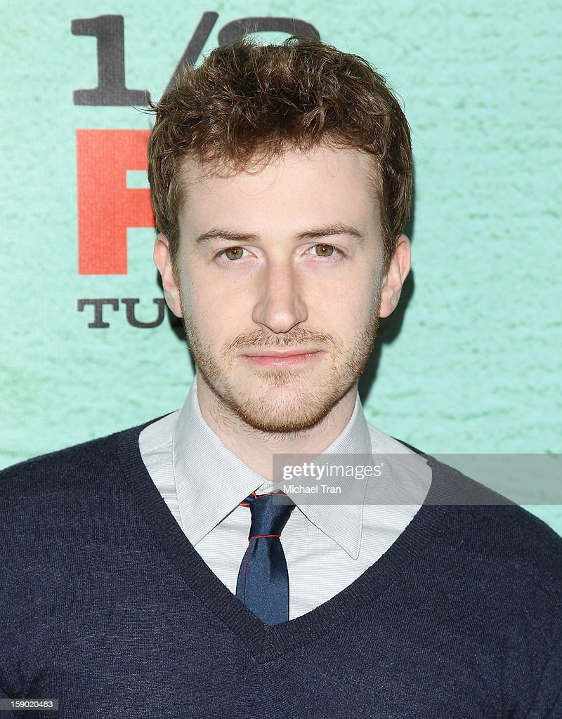Joseph Mazzello arrives at season 4 premiere of FX's 'Justified' held at Paramount Theater on the Paramount Studios lot on January 5, 2013 in Hollywood, California.