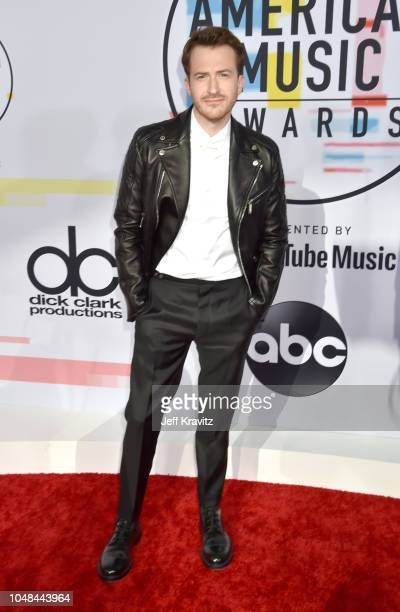 Joseph Mazzello attends the 2018 American Music Awards at Microsoft Theater on October 9 2018 in Los Angeles California