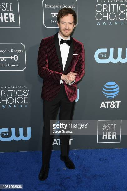 Joseph Mazzello attends the 24th annual Critics' Choice Awards at Barker Hangar on January 13 2019 in Santa Monica California