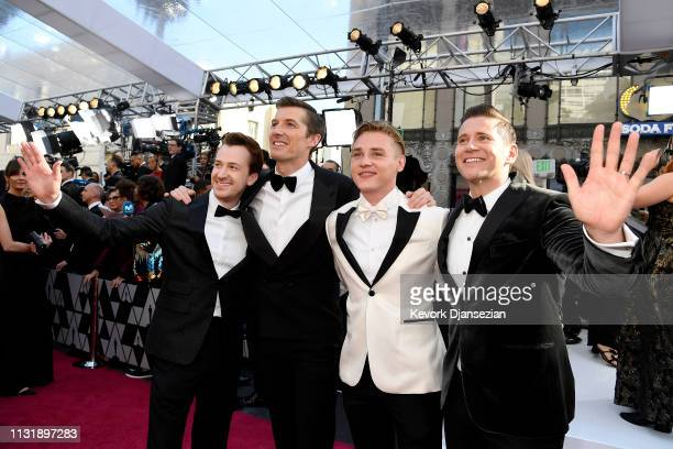 Joseph Mazzello Gwilym Lee Ben Hardy and Allen Leech attend the 91st Annual Academy Awards at Hollywood and Highland on February 24 2019 in Hollywood...