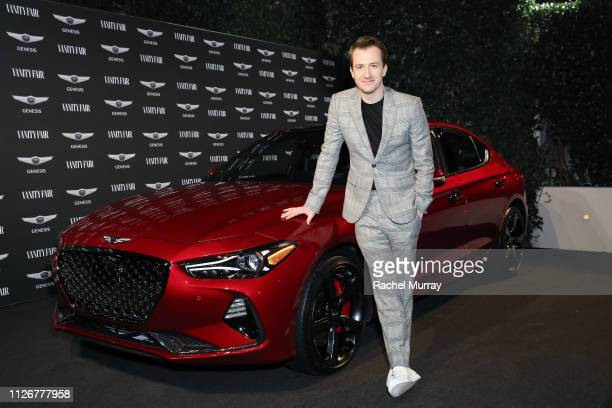 Joseph Mazzello is seen as Vanity Fair and Genesis celebrate the cast of Bohemian Rhapsody on February 22 2019 in Los Angeles California