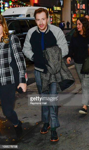 Joseph Mazzello is seen coming out of the today show on October 29 2018 in New York City