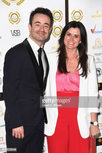 Joseph McFadden and Dawn Steele attend the National Film Awards UK at Porchester Hall on March 28 2018 in London England