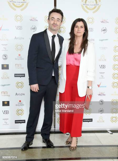 Joseph McFadden and Dawn Steele attend the National Film Awards UK at Portchester House on March 28 2018 in London England