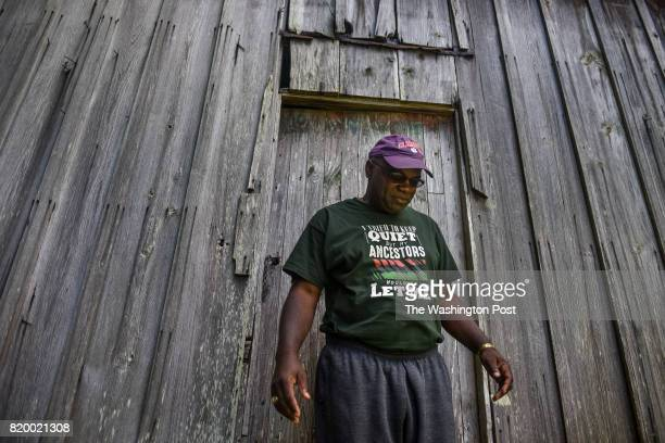 Joseph McGill a preservationist and plantation museum docent from Charleston South Carolina visits this slave cabin in Alabama's Marengo County after...