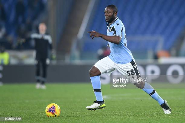 Joseph Minala of SS Lazio during the Italian Cup match between Lazio and Cremonese at Stadio Olimpico Rome Italy on 14 January 2020