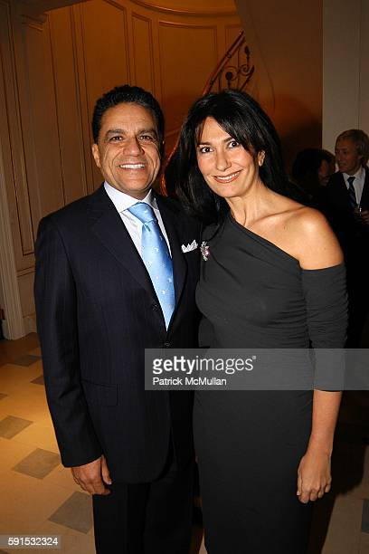 Joseph Moinian and Nazee Moinian attend Steve Christine Schwarzman Host The 52nd Annual Antiques Show at 740 Park Avenue on November 2 2005 in New...