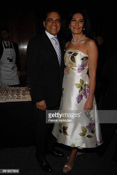Joseph Moinian and Nazee Moinian attend The Irvington Institute for Immunological Research Through The Kitchen Benefit Dinner at The Four Seasons...