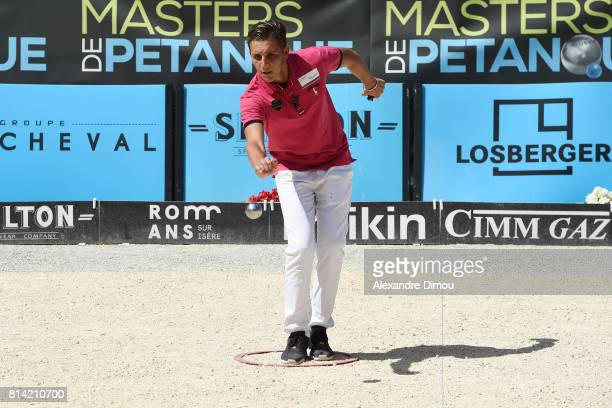 Joseph Molinas competes during the Masters of Petanque 2017 on July 13 2017 in RomanssurIsere France