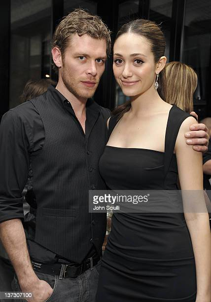 Joseph Morgan and Emmy Rossum attend dinner and cocktails hosted by Nicole Miller Emmy Rossum and Luis Barajas at Thompson Hotel on January 18 2012...
