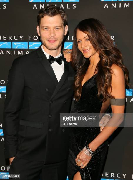 Joseph Morgan and Persia White attend the Mercy For Animals' Annual Hidden Heroes Gala on September 23 2017 in Los Angeles California