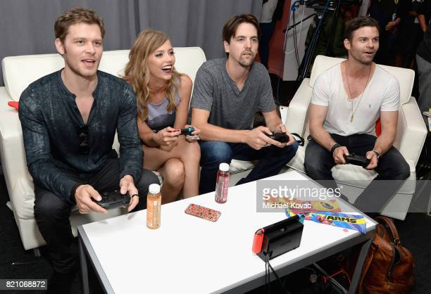 Joseph Morgan Riley Voelkel guest and Daniel Gillies stopped by Nintendo at the TV Insider Lounge to check out Nintendo Switch during ComicCon...