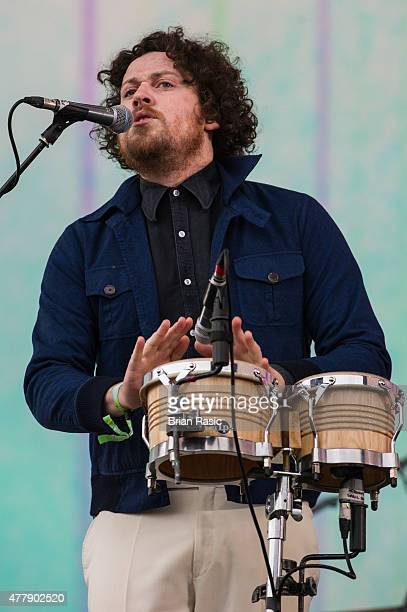 Joseph Mount of Metronomy performs live at the British Summer Time 2015 at Hyde Park on June 20 2015 in London England