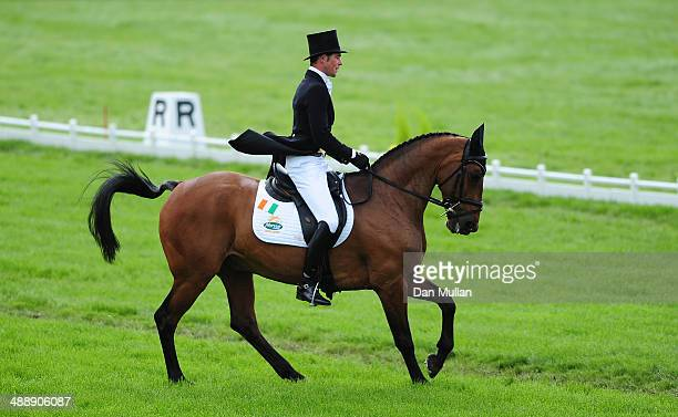 Joseph Murphy of Ireland riding Sportsfield Othello during the dressage on day three of the Badminton Horse Trials on May 9 2014 in Badminton England