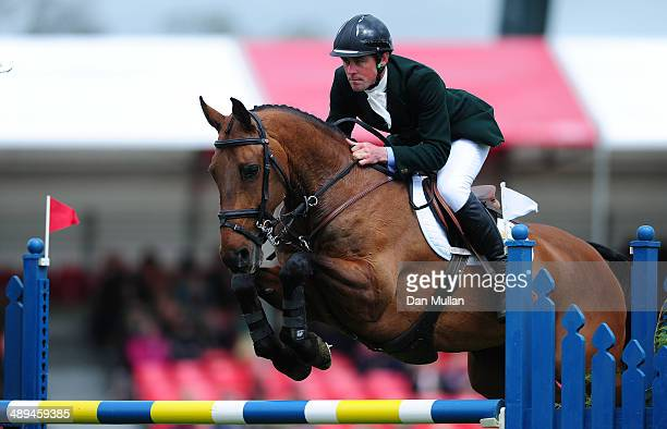 Joseph Murphy of Ireland riding Sportsfield Othello during the Show Jumping on day five of the Badminton Horse Trials on May 11 2014 in Badminton...