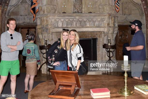 Joseph O Tobin III Lydia Hearst and Amanda Hearst attend Hearst Castle Preservation Foundation Associate Trustees' Tour at Hearst Castle on September...