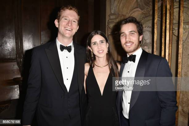 Joseph O Tobin III Whitney Goodman and Tommy Alberini attend Hearst Castle Preservation Foundation Benefit Weekend 'James Bond 007 Costume Gala' at...